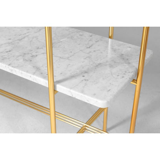 Danish white marble console table image