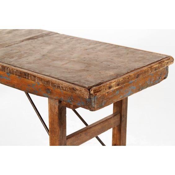 Metal topped console table image