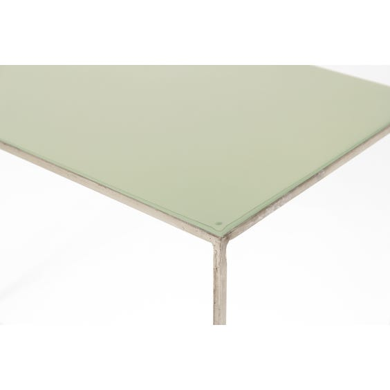 Pastel jade top console table image