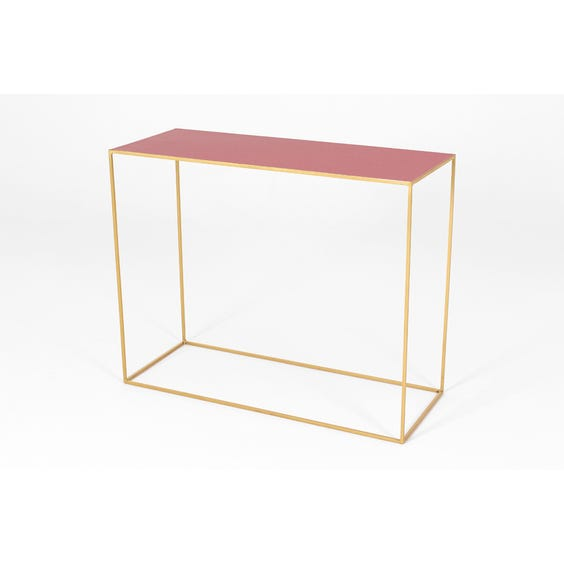 Raspberry red top console table image