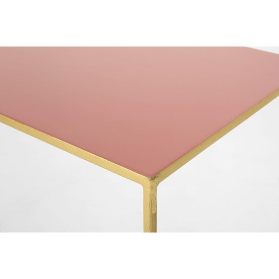 Pink enamel top console table image