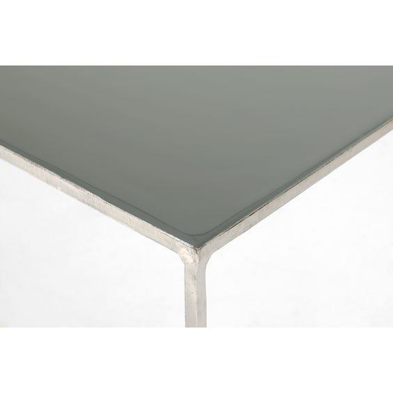 Grey enamel top console table image