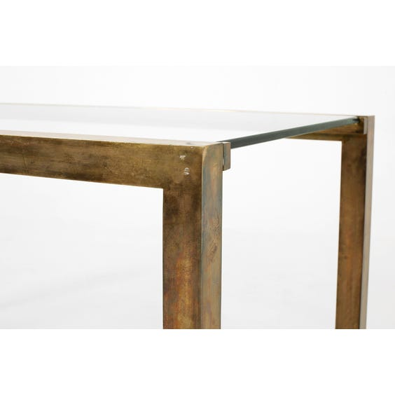 Midcentury French brass console image