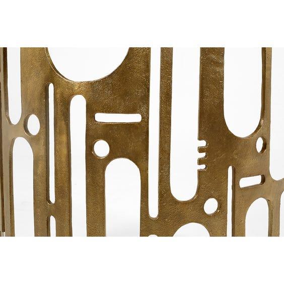 Midcentury bronze brutalist console image