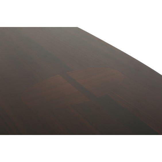 Dark wood ellipse console table image