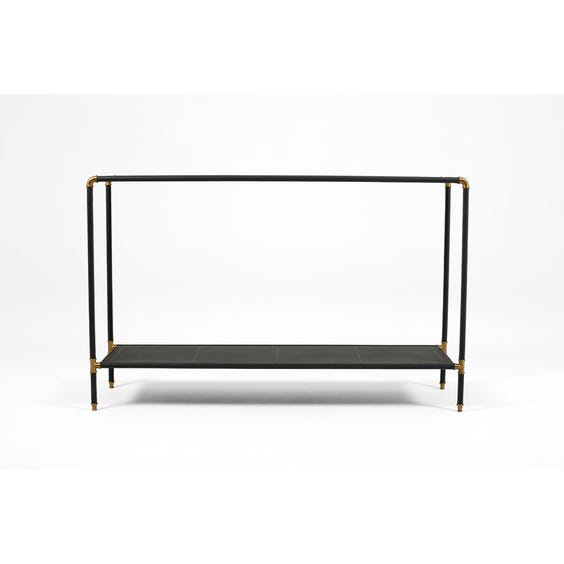 Leather and brass console table image