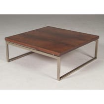 Large square rosewood coffee table