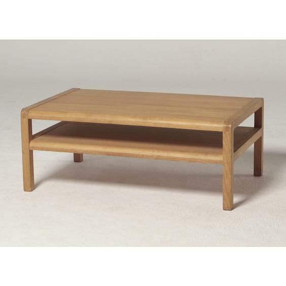 Low oak Radius coffee table image