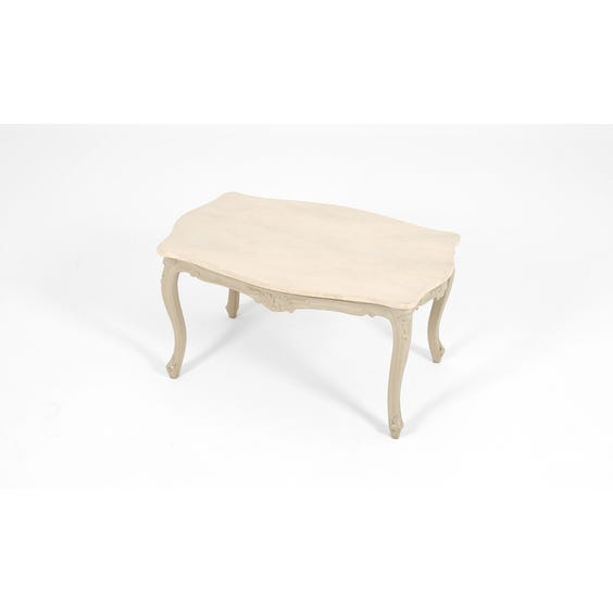 French marble top coffee table image