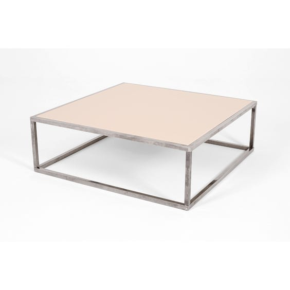 Reversible top steel coffee table image