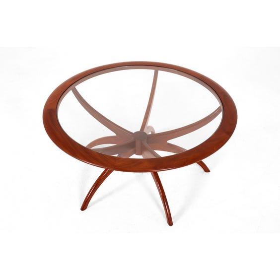 Midcentury circular teak coffee table image