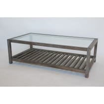 Slatted grey oak coffee table