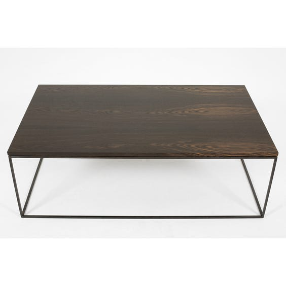 Grey stained oak coffee table image