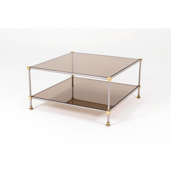 Smoked glass cube coffee table image