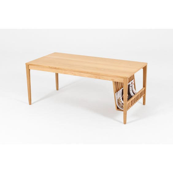 Ercol pale oak rectangular coffee table image
