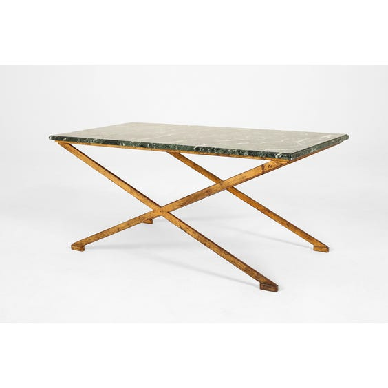 Green marble top coffee table image