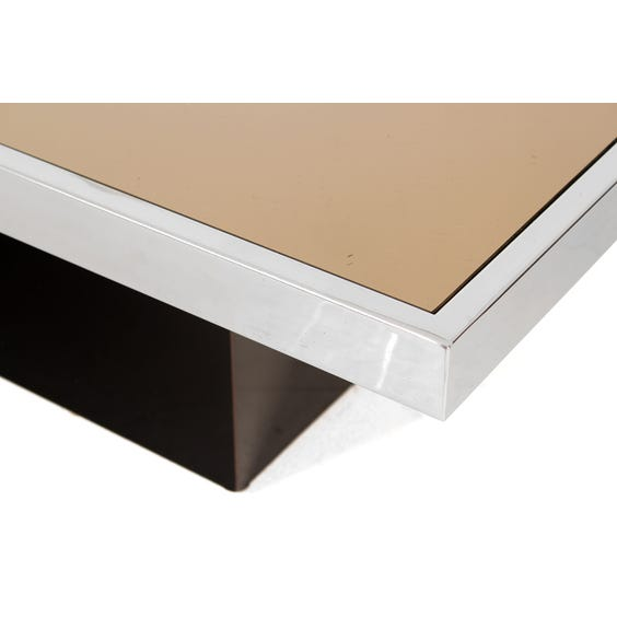 Chrome and bronze coffee table image