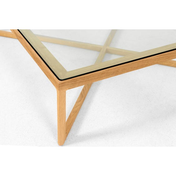 Modern square oak coffee table image
