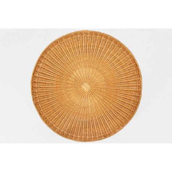 Midcentury rattan coffee table image
