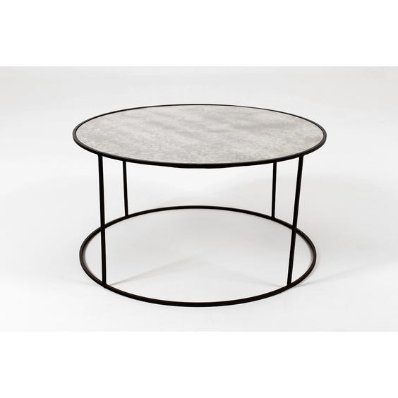 Circular mirrored glass coffee table image