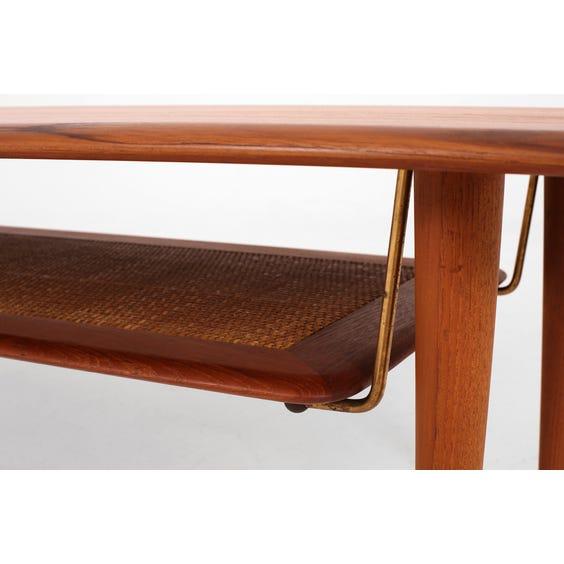 Midcentury Danish teak coffee table image