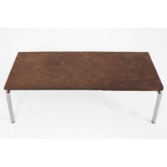 Midcentury slate top coffee table image