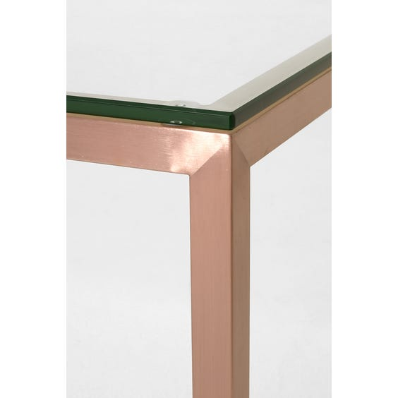 Rose gold coffee table image