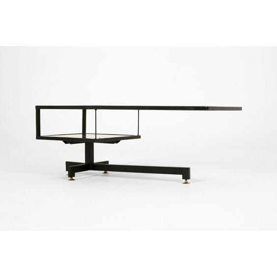 Smoked glass cantilever coffee table image