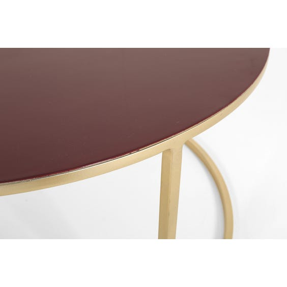 Plum enamel top coffee table image