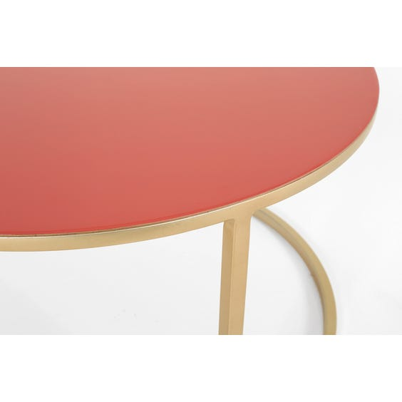 Modern coral pink coffee table image