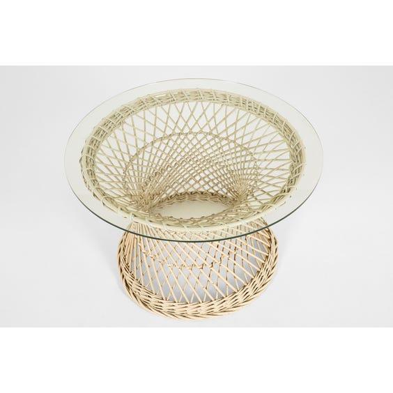 Midcentury hourglass coffee table image