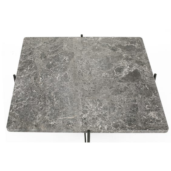 Square grey marble coffee table image