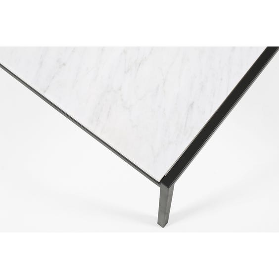 Square white marble coffee table image