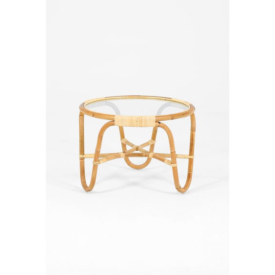 Midcentury Danish rattan coffee table image