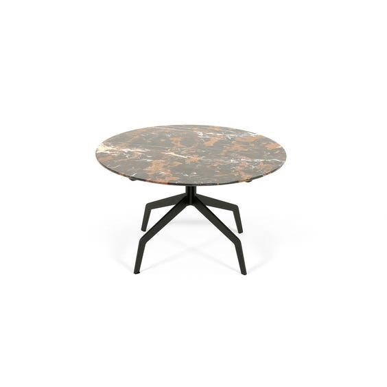 Modern veined marble coffee table image