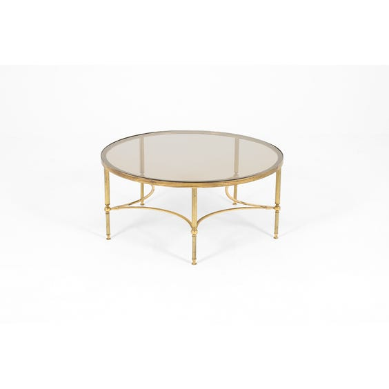 Midcentury large brass coffee table image