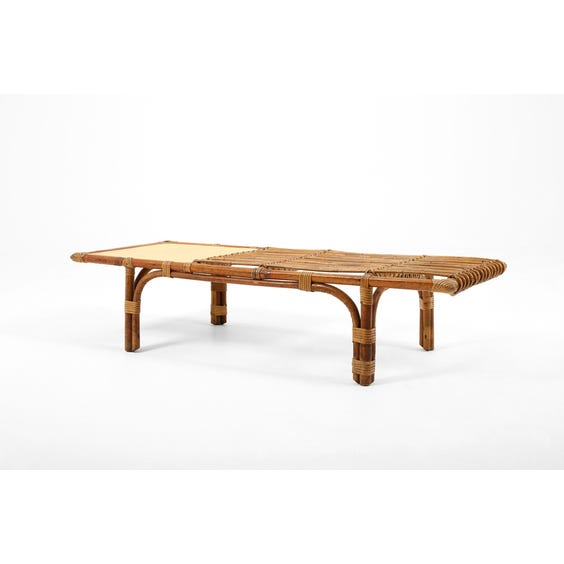 Midcentury French rattan coffee table image