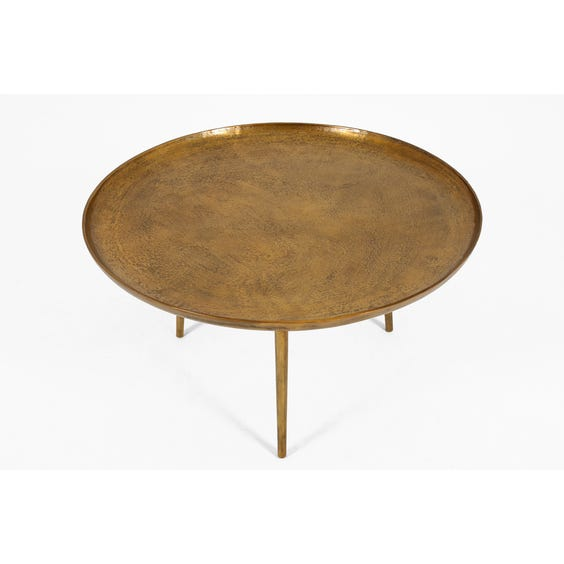 Midcentury antiqued brass coffee table  image