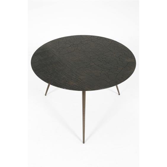 Small textured circular coffee table  image