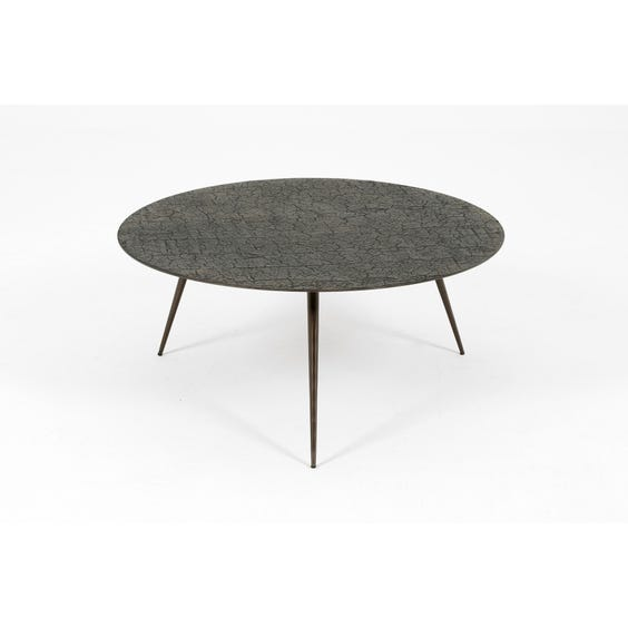 Large textured circular coffee table  image