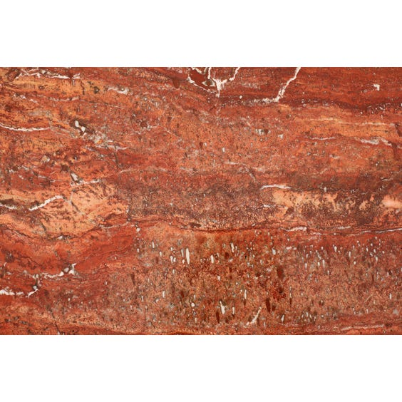 Modern red travertine coffee table  image