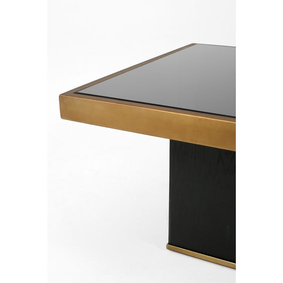 Large brushed bronze coffee table image