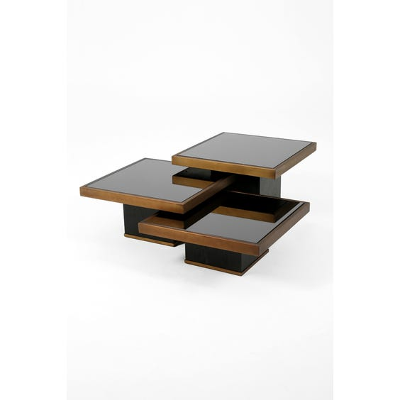 Medium brushed bronze coffee table  image