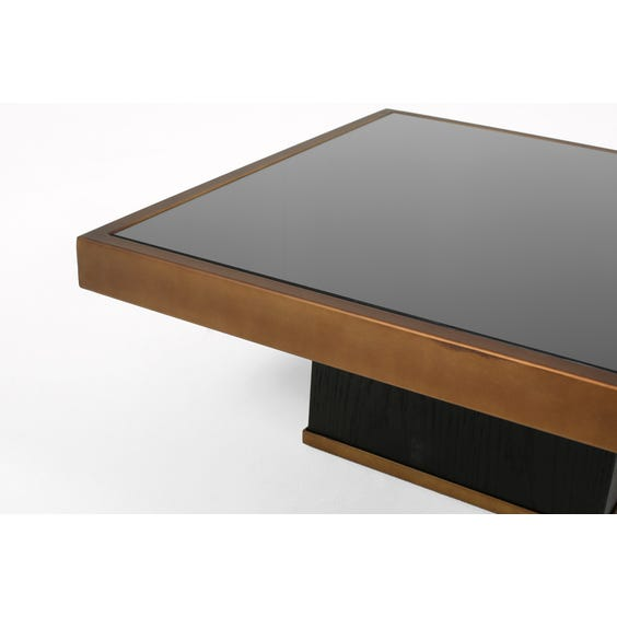 Small brushed bronze coffee table image