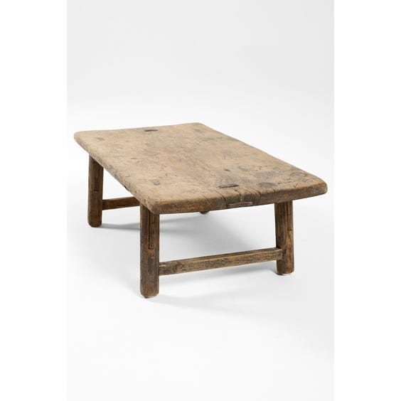 Extra small rustic Chinese elm table  image