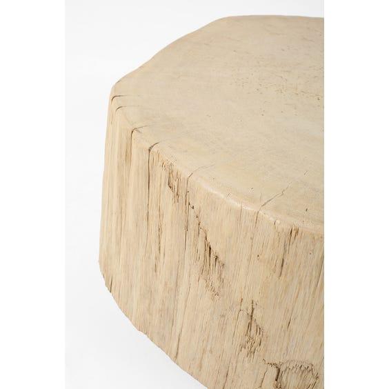 Primitive elm block coffee table image