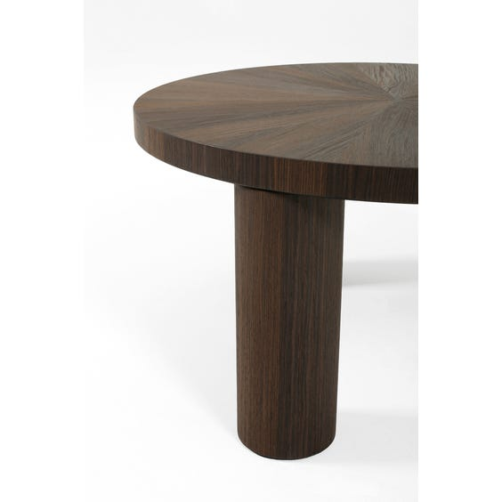 Small walnut marquetry coffee table image