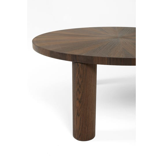 Large walnut marquetry coffee table image