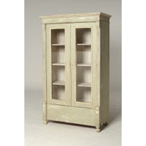 Glazed French painted cupboard