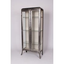 Stripped metal medical cupboard